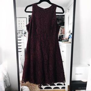 Ann Taylor NWT maroon lace dress